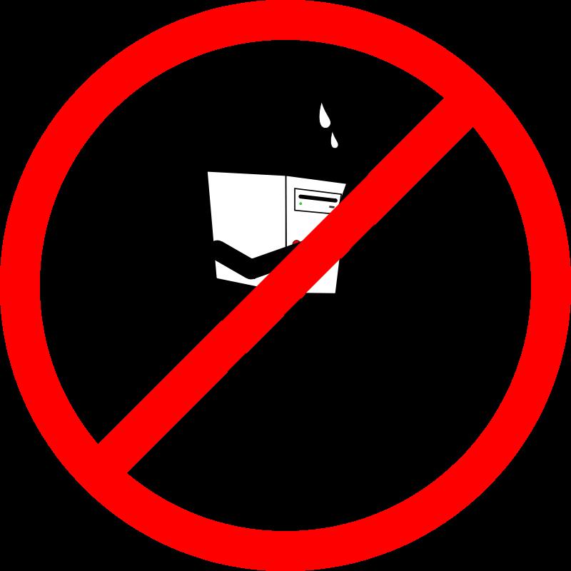 Free Prohibido cargar computadoras