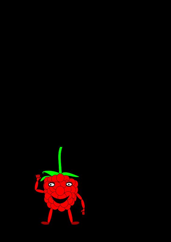 Free cartoon raspberry