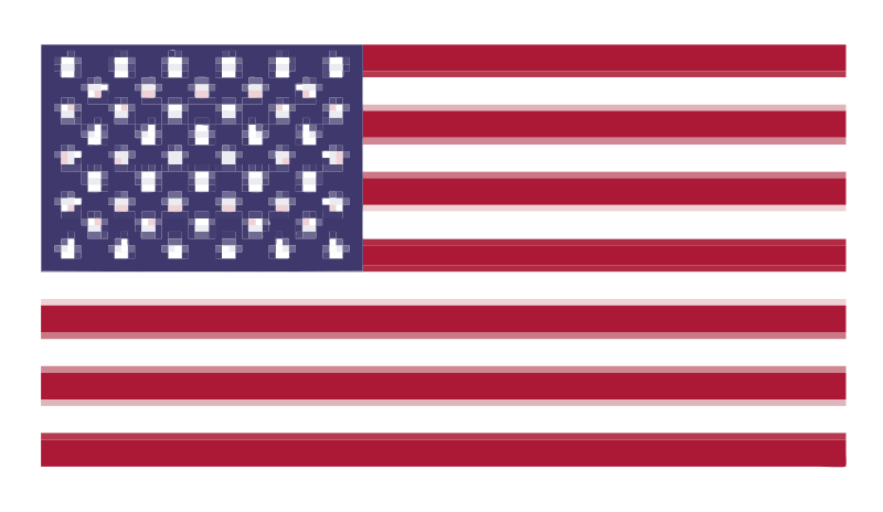 Free Pixelated Flag