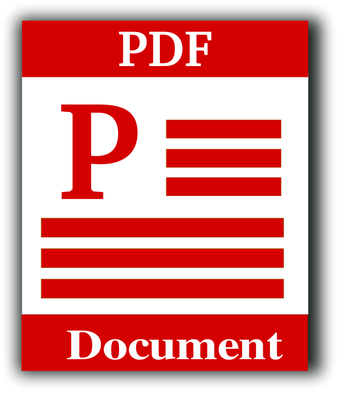 Free Portable Document Format Icon