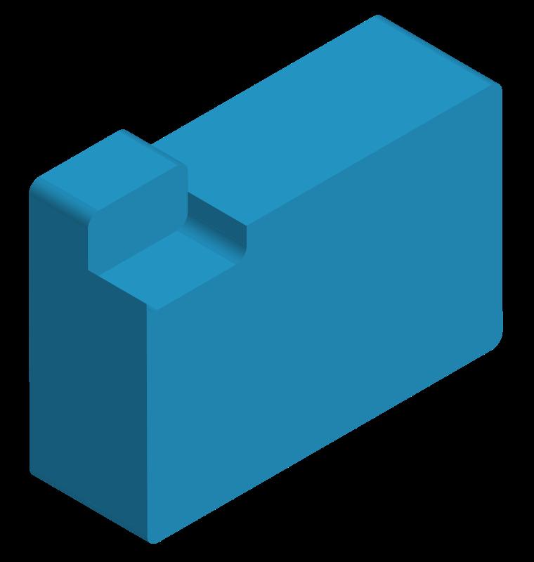 Free Chunky 3D File Folder