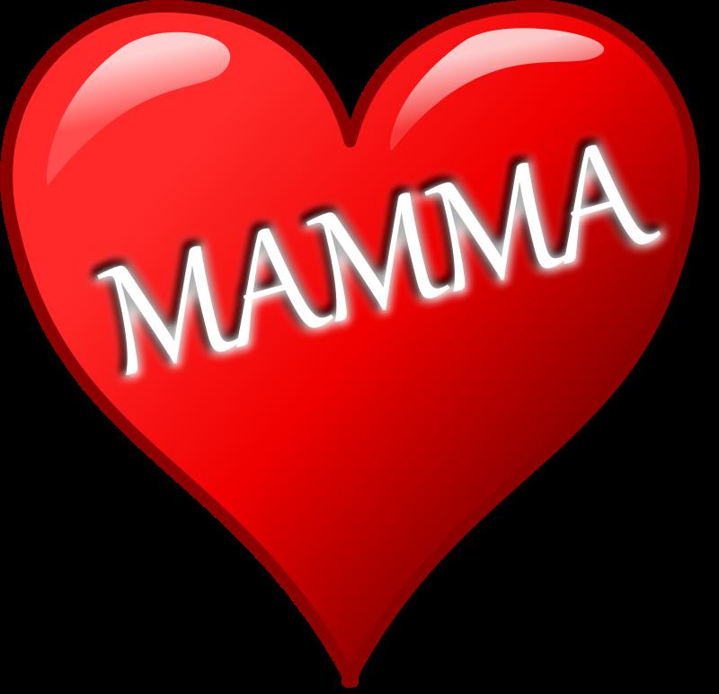 Free Clipart: Cuore per la festa della mamma | palomaironique