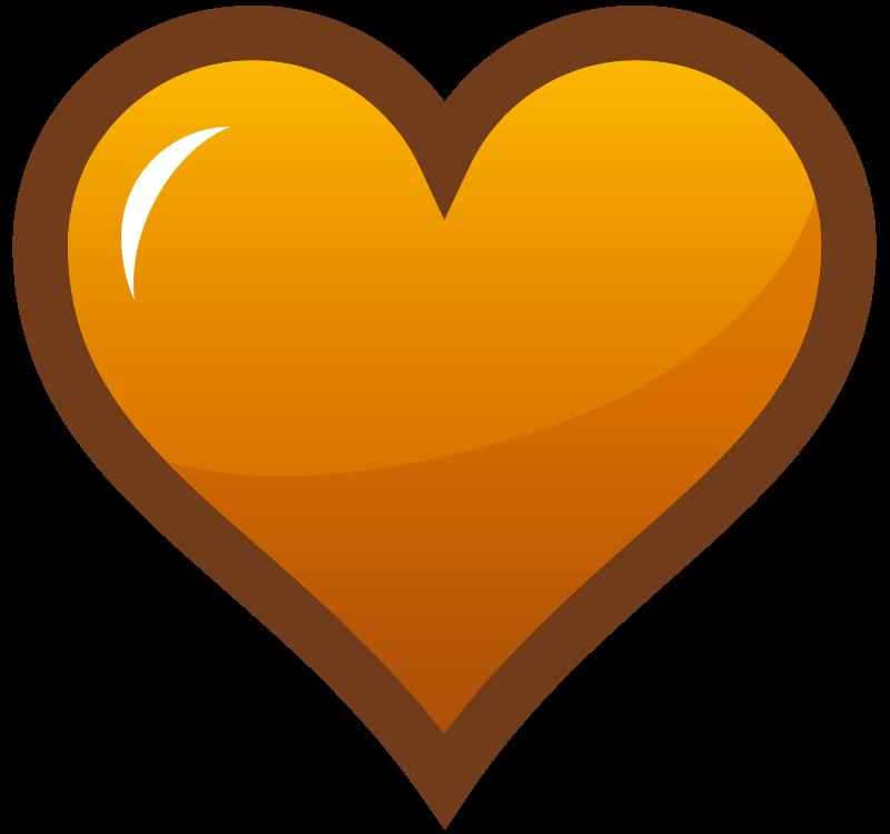 Free Orange Heart Icon