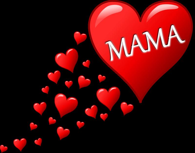 Free Herz für Muttertag mit einer Spur von Herzen