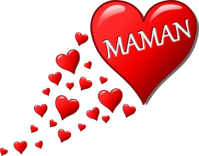 Free Cœur pour la Fête des Mères avec une traînée de cœurs