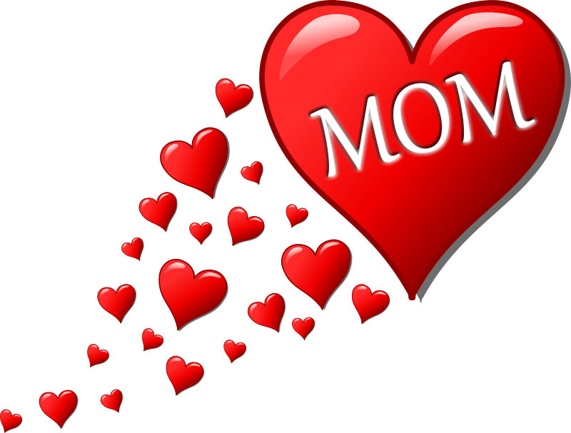 Free Clipart: Mother's day heart with small hearts track | palomaironique