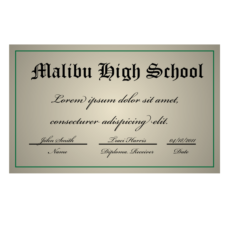 Free A high school diploma
