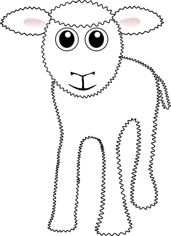 Free Funny White Lamb Cartoon