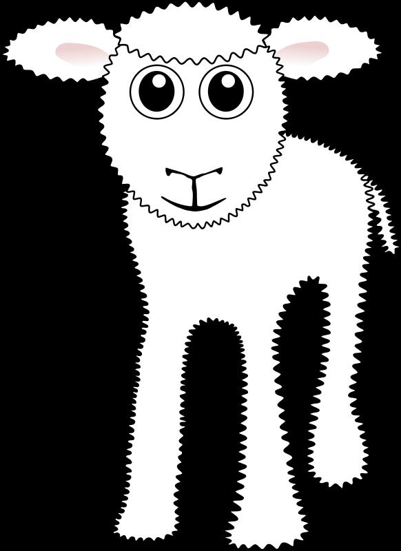 Free Clipart: Funny White Lamb Cartoon | palomaironique
