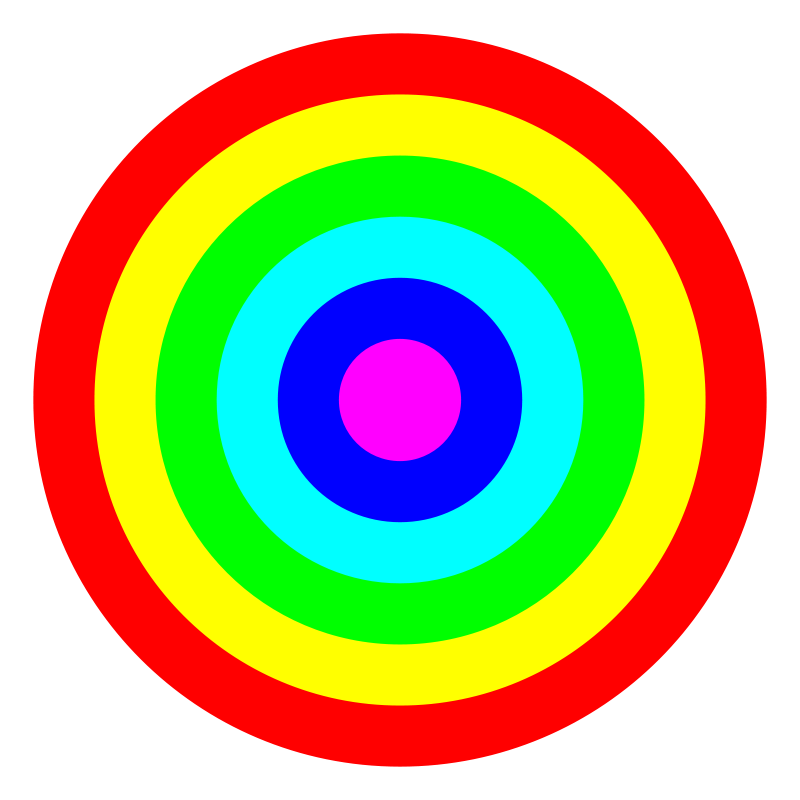 Free rainbow circle target 6 color