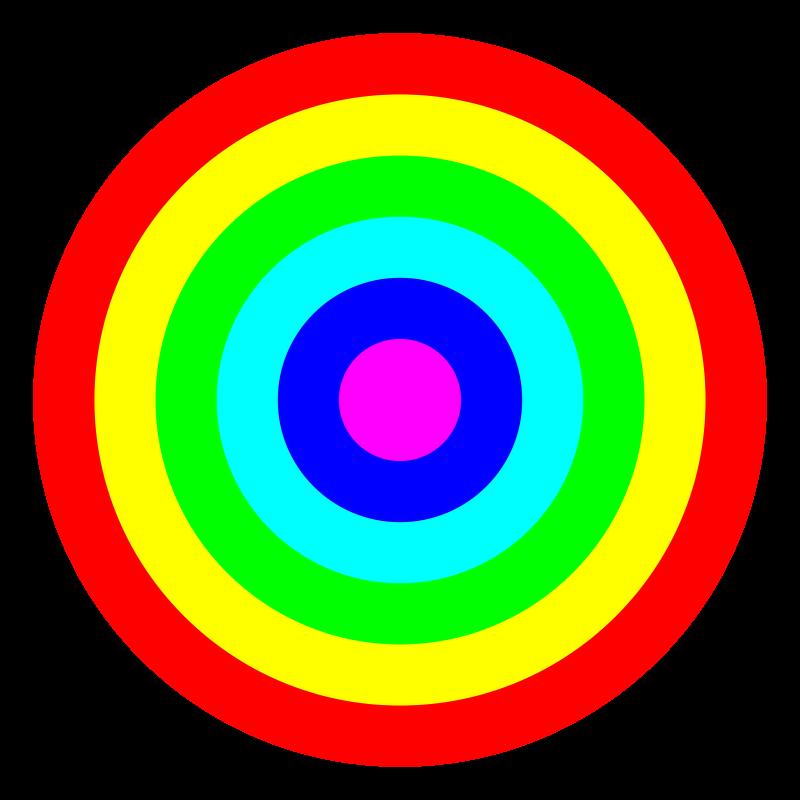 Free rainbow circle target 6 color