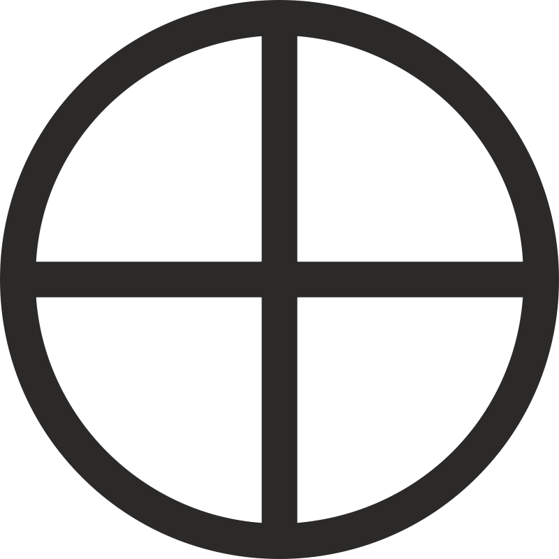 Free Mundane Cross Encircled