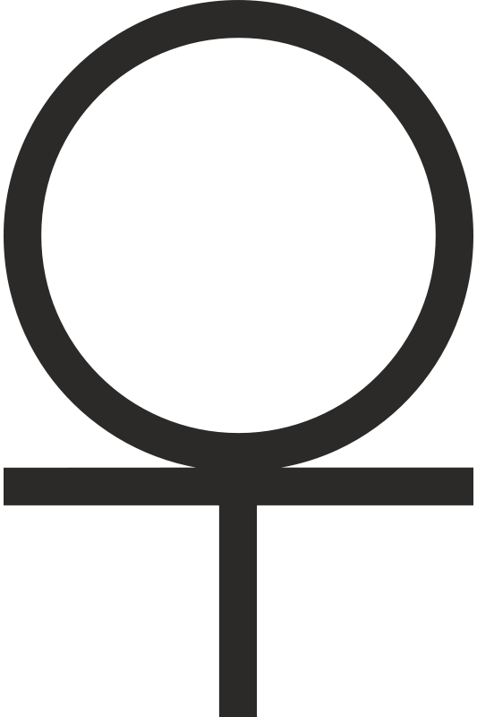 Free Ankh cross 3/4 Below Circle