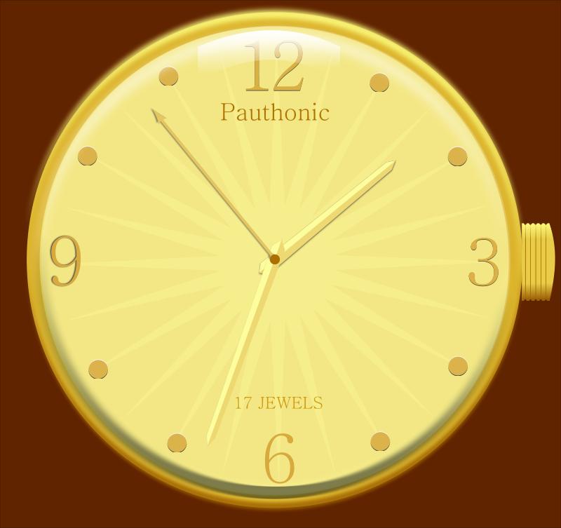 Free Rmx golden watch