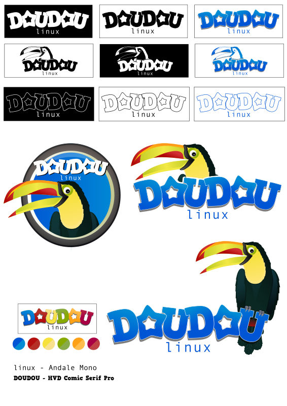 Free DouDou linux - Mascot and Logo Contest