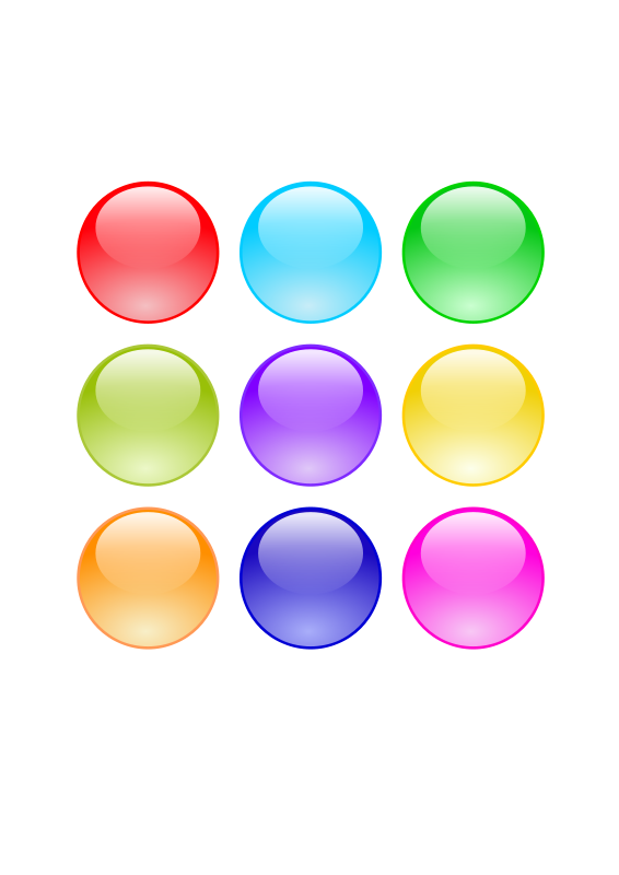 Free Glossy Circle Buttons