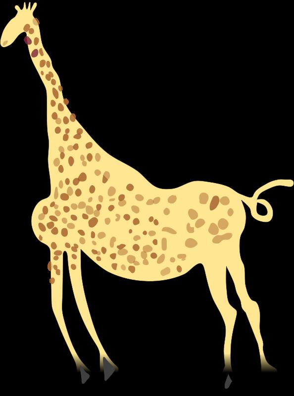 Free Rock Art Acacus Giraffe - Colored