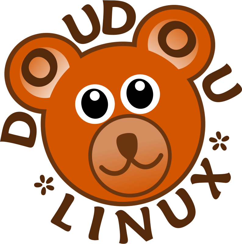 Free DoudouLinux Logo - Operating System fun and accessible for kids from 2 to 12 years old