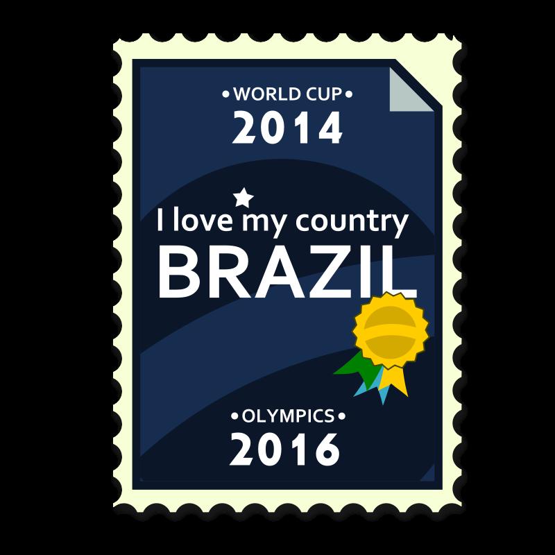 Free Brazil 2014-2016 Postage Stamp
