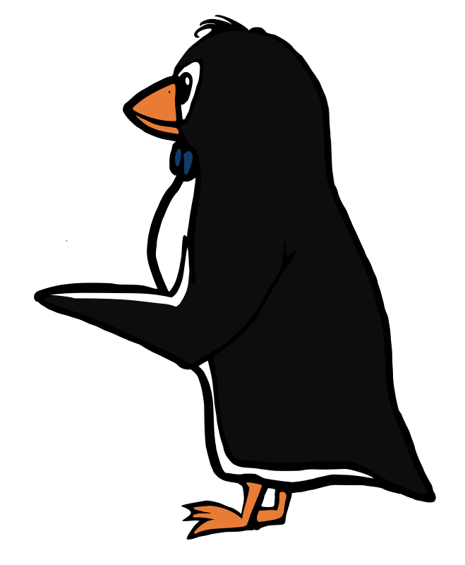 Free Pointing Penguin