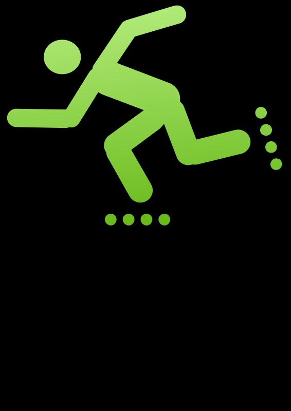 Free pictogram roller man