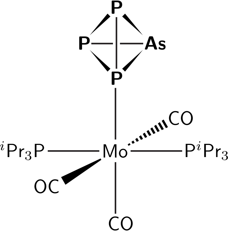 Free AsP3 complex of Kubas fragment