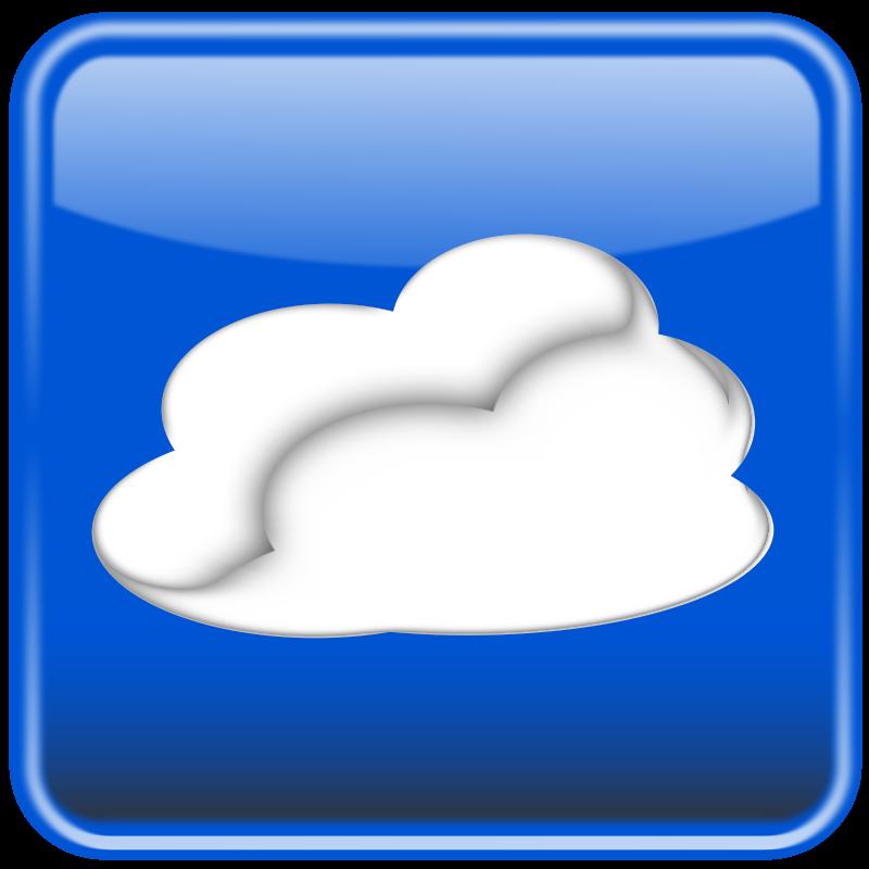 Free Cloud computing button glossy. Nube computo brilloso.