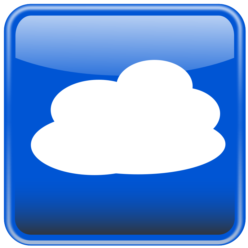 Free Cloud computing button. Nube computo