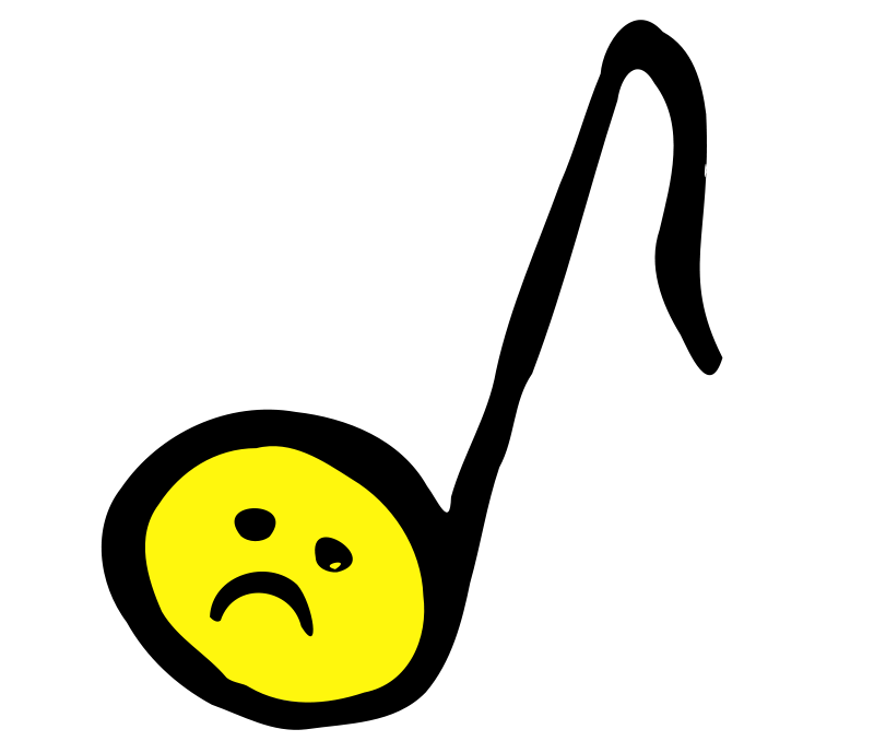 Free Clipart: Unhappy Eighth Note | Objects