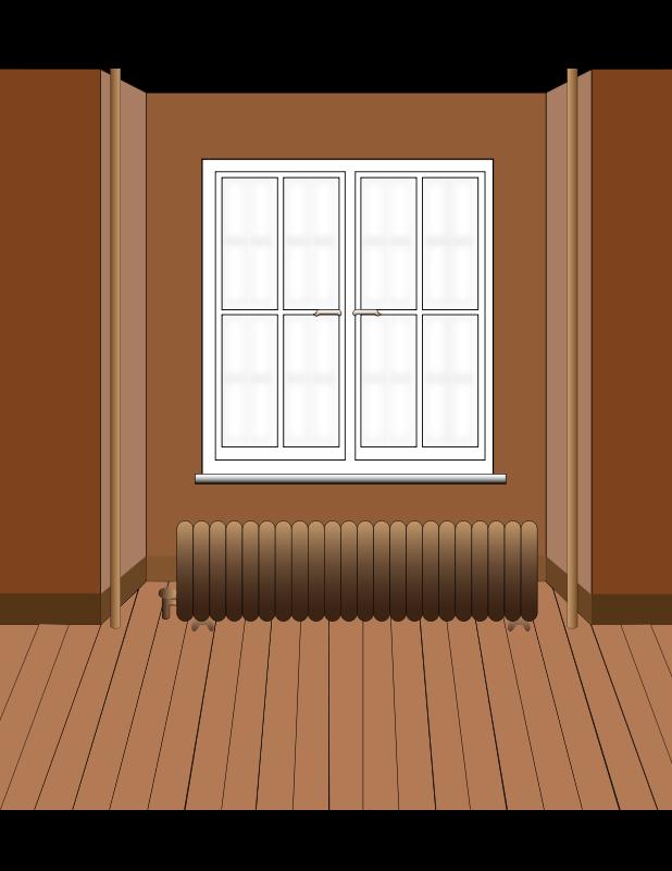 Free windows behind radiator