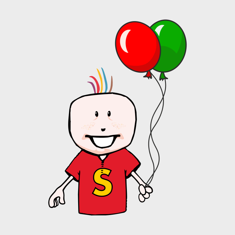 Free boy with balloons