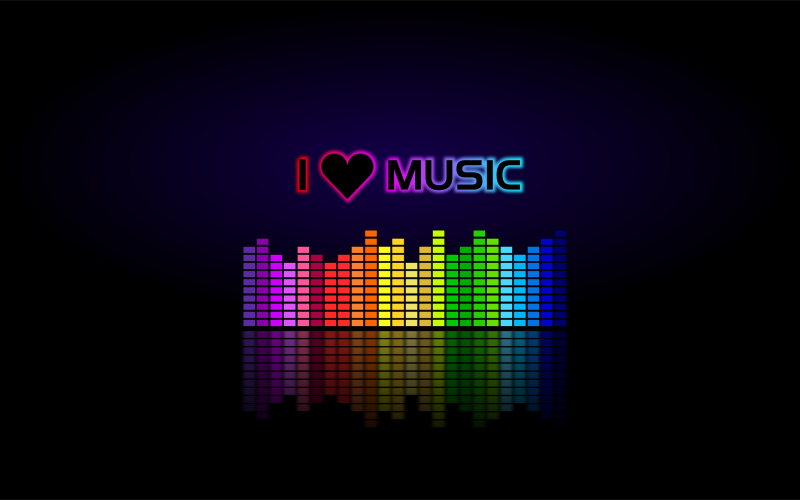 Free Clipart: I LOVE MUSIC (Wallpaper) | mystica