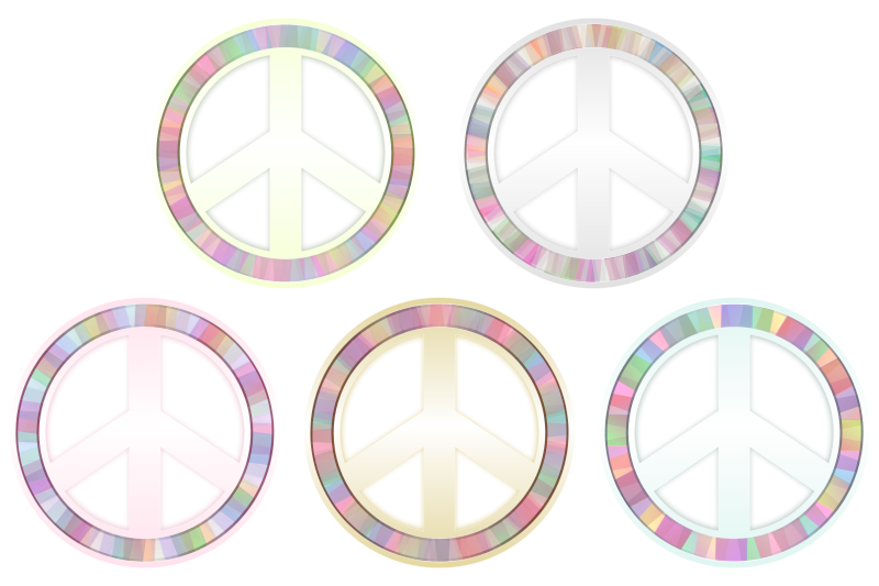 Free Peace Symbol - Pastels