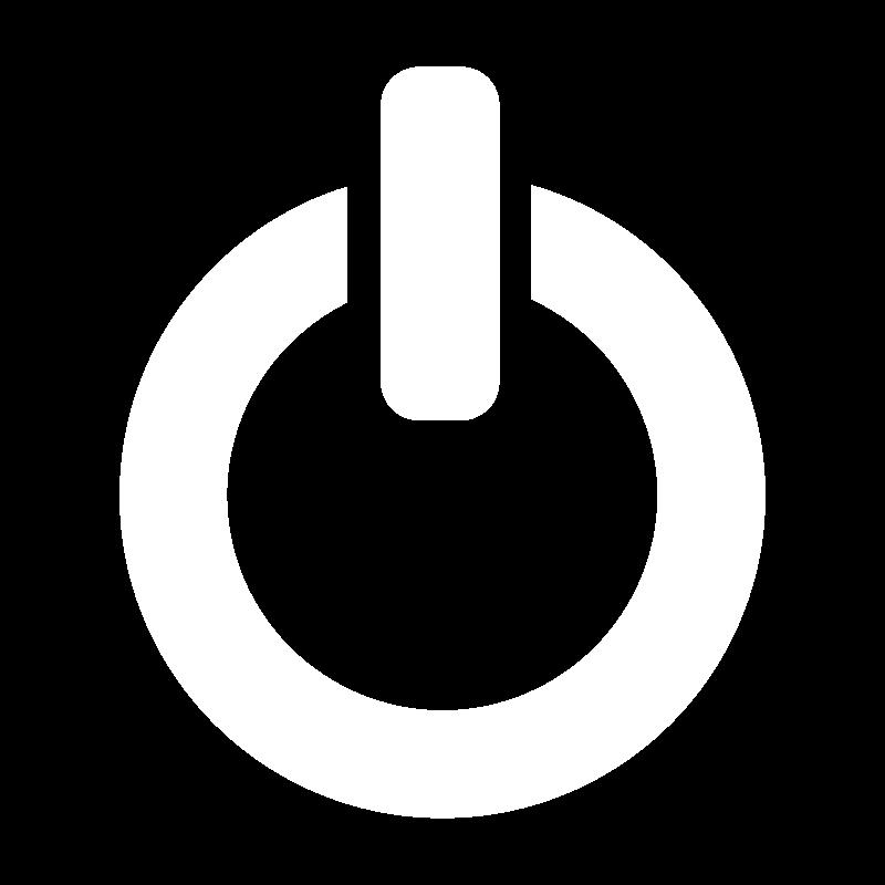 Free White Clarity shutdown icon