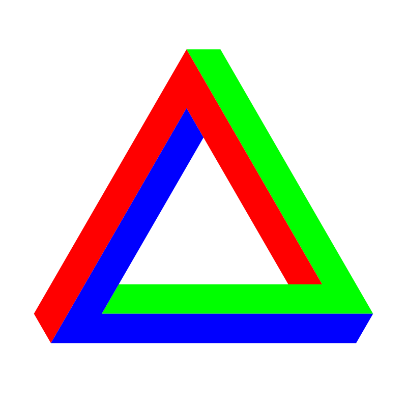 Free Penrose Triangle RGB