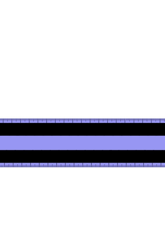 Free Blue metric ruler