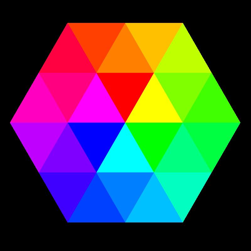 Free 24 color hexagon