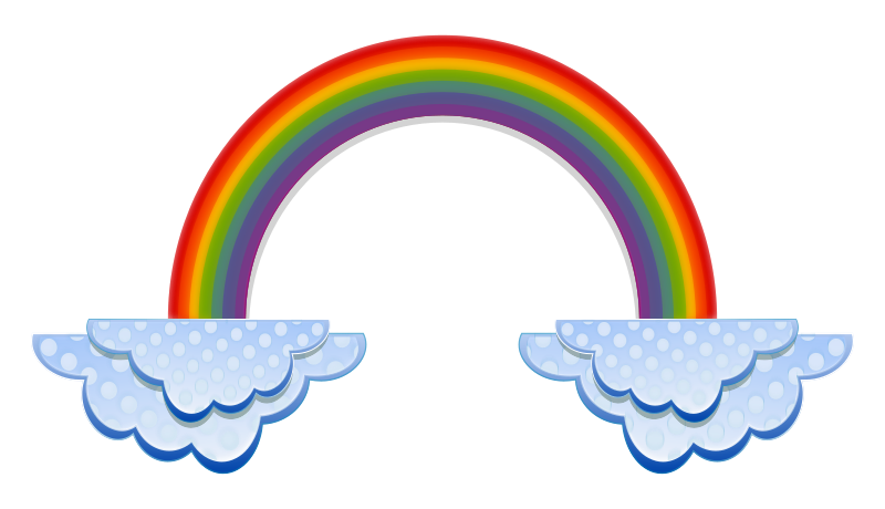 Free Rainbow And Clouds