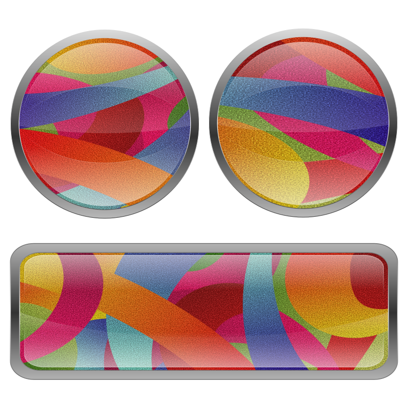 Free Multicolored Film Grained Buttons