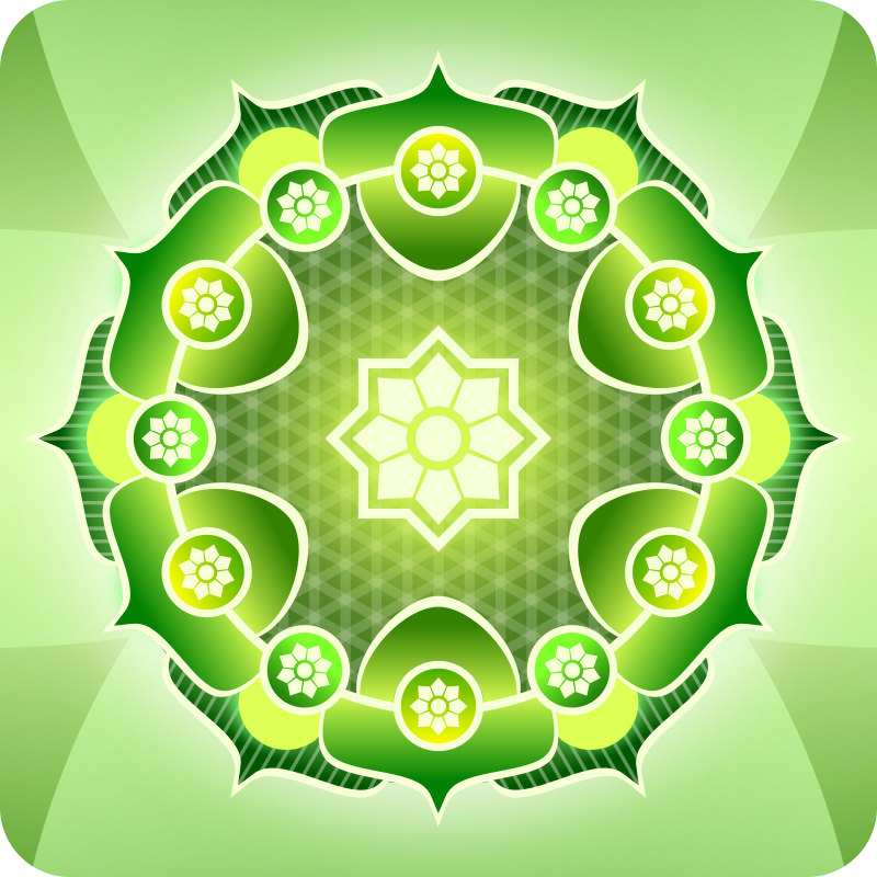 Free Simple Green Mandala