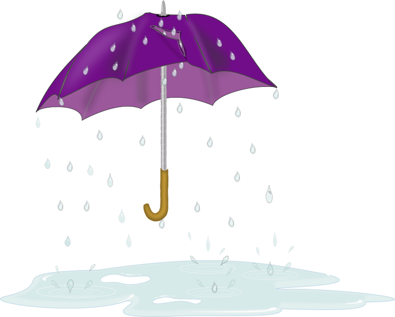 Free Tattered Umbrella in Rain