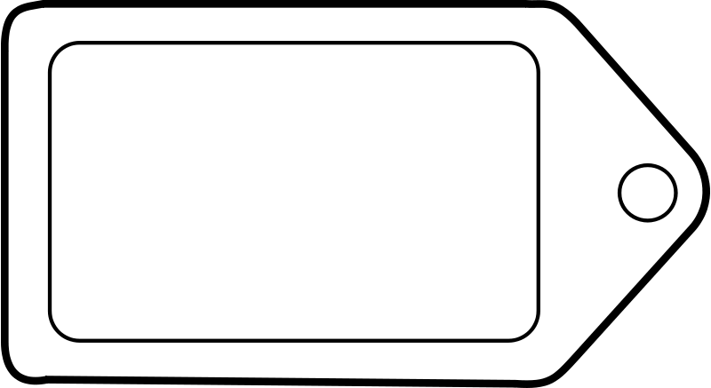 Free Etiquette tag icon label