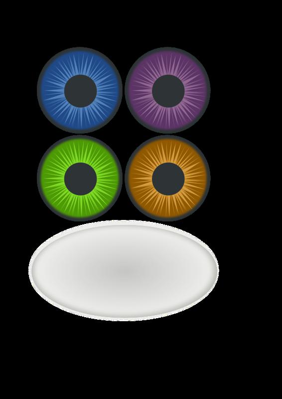 Free Clipart: Eye components | onyxbits
