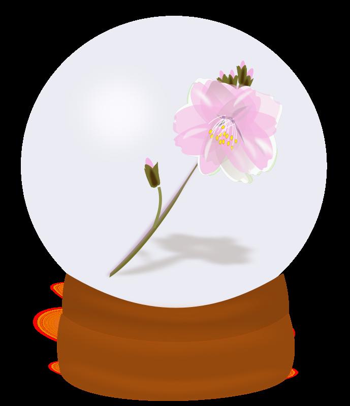 Free flower globe