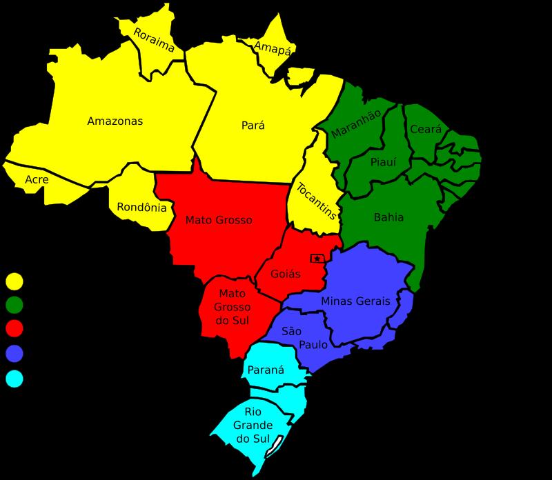 Free Map of Brazil, v3