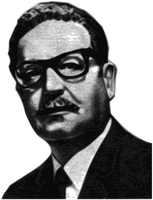 Free Salvador Allende Greyscale 56th President of the Senate of the Republic of Chile