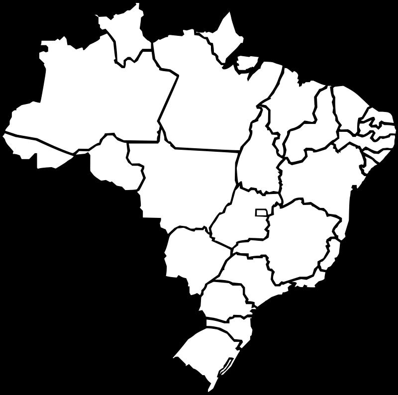 Free Clipart: Map of Brazil | J_Alves