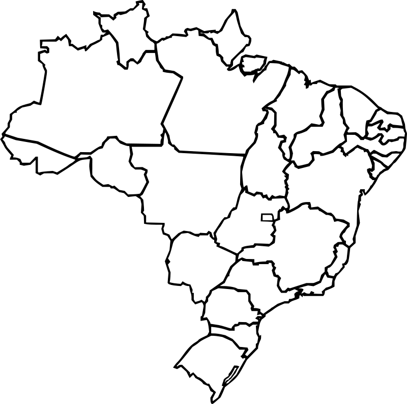 Free Map of Brazil