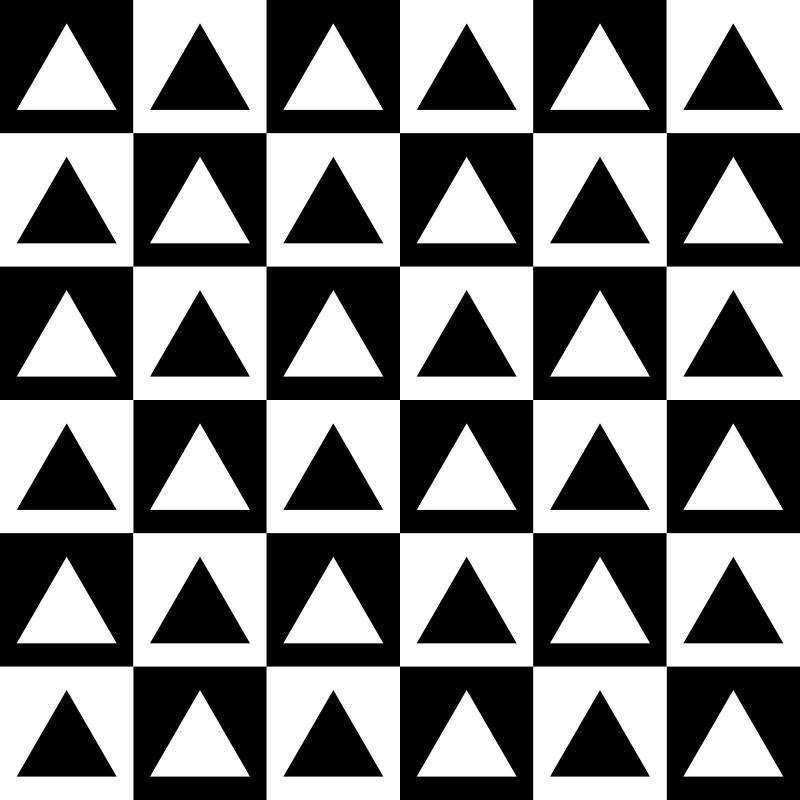 Free triangles inside chessboard