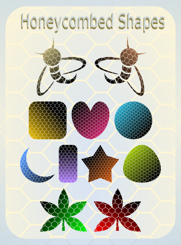 Free Clipart: Honeycombed Shapes | Viscious-Speed